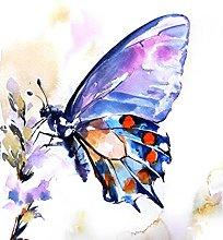 pittura con numeri Fiori e farfalle per adulti