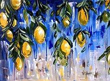 pittura con numeri Limone alla frutta per adulti
