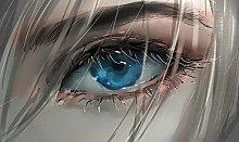 pittura con numeri occhi stupendi per adulti