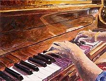 pittura con numeri pianoforte per adulti bambini