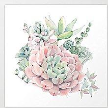 pittura con numeri piante grasse per adulti
