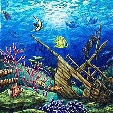 pittura con numeri vita marina per adulti bambini