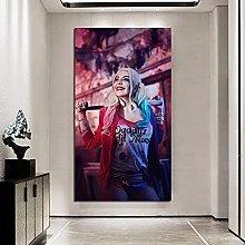 Pittura diamante 5D-DIY Harley Quinn incorniciato