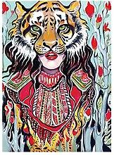 Pittura diamante 5D-DIY Pittura Tigre Mascherata
