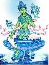 Pittura diamante 5D-DIY Thangka Green Tara Art