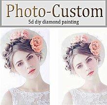 Pittura diamante 5D Foto personalizzata Drill
