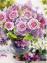 Pittura Diamanti 5D Fiore Rosa Kit per Pittura con