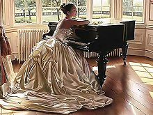 Pittura Diamanti 5D Ragazza Pianoforte Kit per