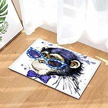 Pittura. Scimmia. Tappetino Da Bagno: 40X60 Cm.