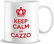 PIU' FORTY Tazza Mug Keep Calm Un Cazzo