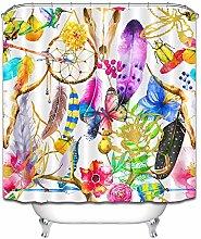 Piuma farfalla ramoscello fiore colorato pittura a