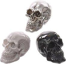 PK Green Halloween Skull Ornamenti Set di 3