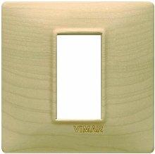 Placca 1M acero per scatola rotonda Vimar Plana