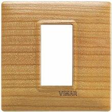 Placca 1M ciliegio per scatola rotonda Vimar Plana