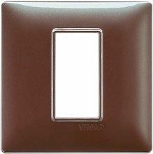 Placca 1M marrone micalizzato scatola rotonda