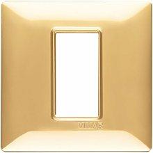 Placca 1M oro lucido scatola rotonda Plana
