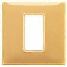 Placca 1M Reflex ambra scatola rotonda Plana