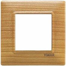 Placca 2M ciliegio per scatola rotonda Plana