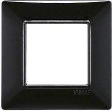 Placca 2M nero per scatola rotonda Vimar Plana