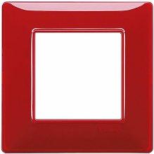 Placca 2M Reflex rubino scatola rotonda Vimar