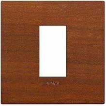 Placca Classic 1M ciliegio scatola rotonda Arkè