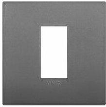 Placca Classic 1M grigio scatola rotonda Vimar