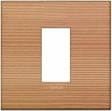 Placca Classic 1M larice scatola rotonda Vimar