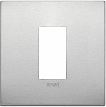 Placca Classic 1M naturale scatola rotonda Vimar