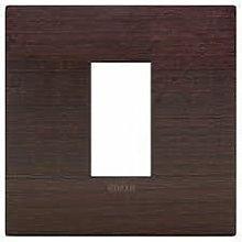 Placca Classic 1M wengè scatola rotonda Arkè
