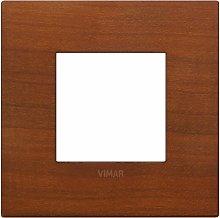 Placca Classic 2M ciliegio scatola rotonda Vimar