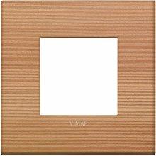 Placca Classic 2M larice scatola rotonda Vimar