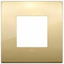 Placca Classic 2M oro scatola rotonda Vimar Arkè