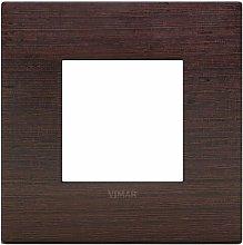 Placca Classic 2M wengè scatola rotonda Arkè