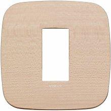 Placca Round 1M acero scatola rotonda Arkè