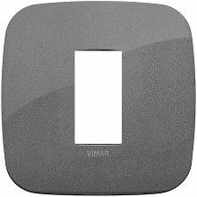 Placca Round 1M ardesia scatola rotonda Vimar