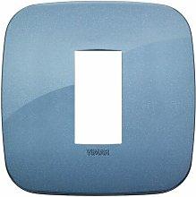 Placca Round 1M blu scatola rotonda Vimar Arkè