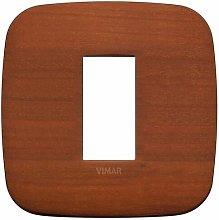 Placca Round 1M ciliegio scatola rotonda Vimar