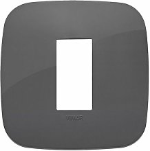 Placca Round 1M grigio scatola rotonda Arkè