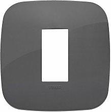 Placca Round 1M grigio scatola rotonda Vimar Arkè