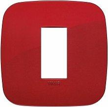 Placca Round 1M rosso scatola rotonda Vimar Arkè