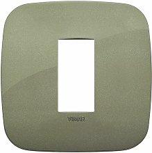 Placca Round 1M verde scatola rotonda Vimar Arkè
