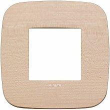 Placca Round 2M acero scatola rotonda Arkè