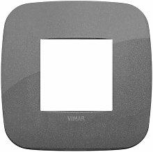 Placca Round 2M ardesia scatola rotonda Vimar