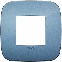Placca Round 2M blu scatola rotonda Arkè 19672.86