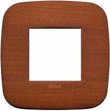 Placca Round 2M ciliegio scatola rotonda Arkè