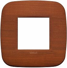 Placca Round 2M ciliegio scatola rotonda Vimar