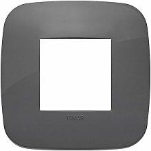 Placca Round 2M grigio scatola rotonda Arkè