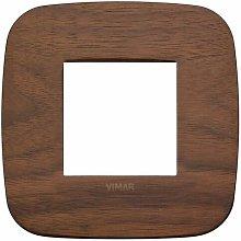 Placca Round 2M noce scatola rotonda Vimar Arkè