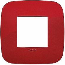 Placca Round 2M rosso scatola rotonda Vimar Arkè