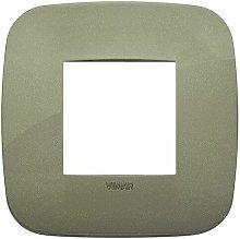 Placca Round 2M verde scatola rotonda Arkè